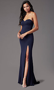 Image of strapless sweetheart long prom dress by PromGirl. Style: PG-F2023 Detail Image 2
