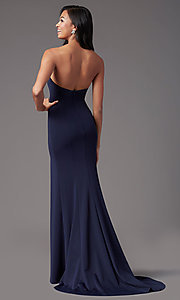 Image of strapless sweetheart long prom dress by PromGirl. Style: PG-F2023 Detail Image 3