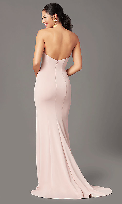 Image of strapless sweetheart long prom dress by PromGirl. Style: PG-F2023 Detail Image 6