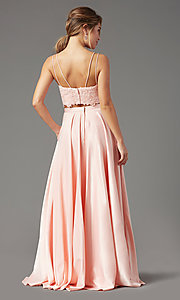 Image of long two-piece prom dress by PromGirl. Style: PG-F2038 Back Image