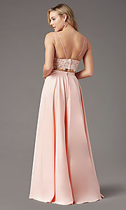 Image of PromGirl two-piece long prom dress with pockets. Style: PG-F2039 Detail Image 7