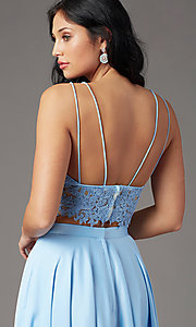Image of PromGirl two-piece long prom dress with pockets. Style: PG-F2039 Detail Image 1