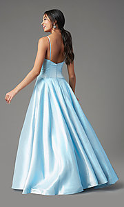 Image of PromGirl holographic-glitter long formal prom dress. Style: PG-Z20955 Detail Image 4