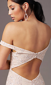 Image of PromGirl long mermaid off-the-shoulder prom dress. Style: PG-Z20553 Detail Image 1