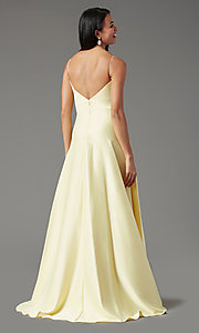 Image of PromGirl long satin formal prom dress with pockets. Style: PG-B2006 Detail Image 7