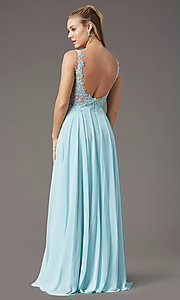Image of PromGirl long formal prom dress with beaded bodice. Style: PG-B2014 Detail Image 7