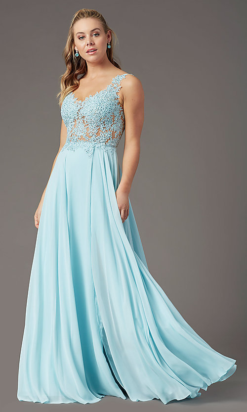 Image of PromGirl long formal prom dress with beaded bodice. Style: PG-B2014 Detail Image 6