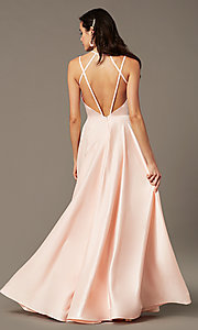 Image of long a-line sweetheart prom dress by PromGirl. Style: PG-B2026 Detail Image 2