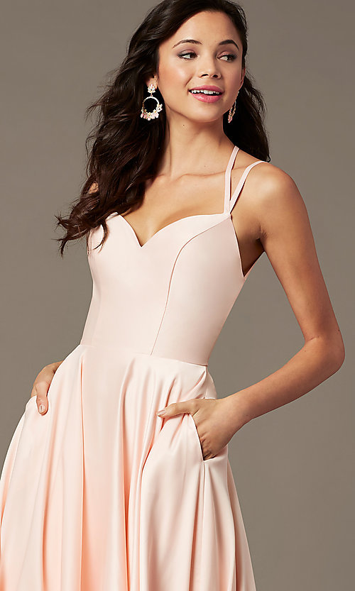 Image of long a-line sweetheart prom dress by PromGirl. Style: PG-B2026 Detail Image 3