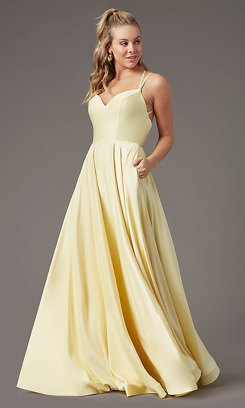 Image of long a-line sweetheart prom dress by PromGirl. Style: PG-B2026 Front Image