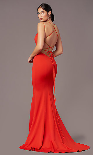 Long Trumpet-Style Formal Prom Dress by PromGirl