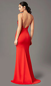Image of PromGirl embroidered-bodice formal prom dress. Style: PG-H2001 Back Image
