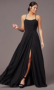 Image of long sweetheart chiffon prom dress by PromGirl. Style: PG-F2011 Detail Image 2