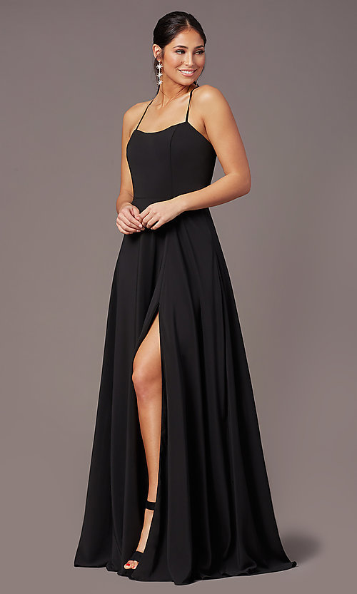 Image of long sweetheart chiffon prom dress by PromGirl. Style: PG-F2011 Front Image
