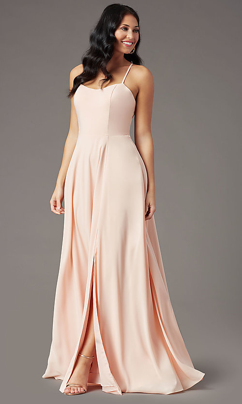 Image of long sweetheart chiffon prom dress by PromGirl. Style: PG-F2011 Detail Image 6