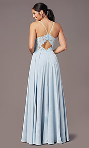 Image of PromGirl formal prom dress with embroidered bodice. Style: PG-F2015 Detail Image 4