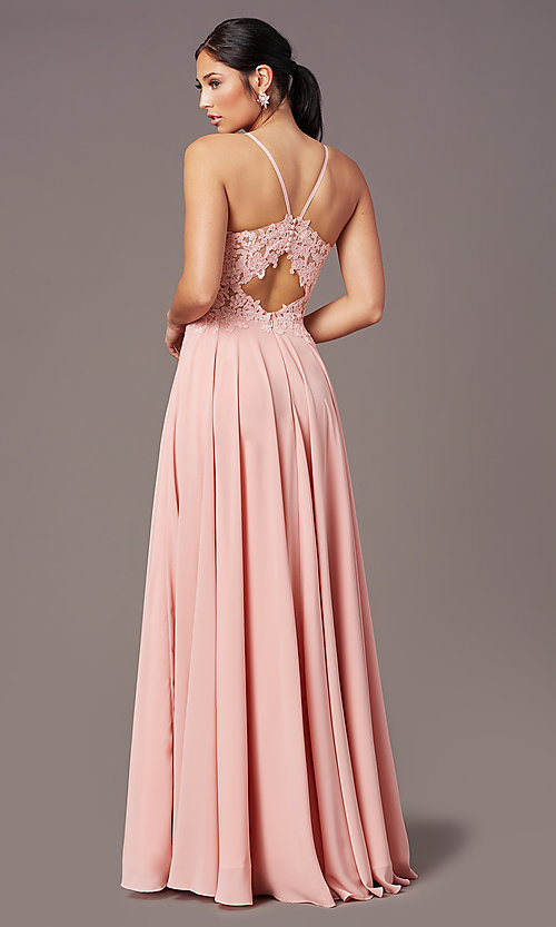 Image of PromGirl formal prom dress with embroidered bodice. Style: PG-F2015 Back Image