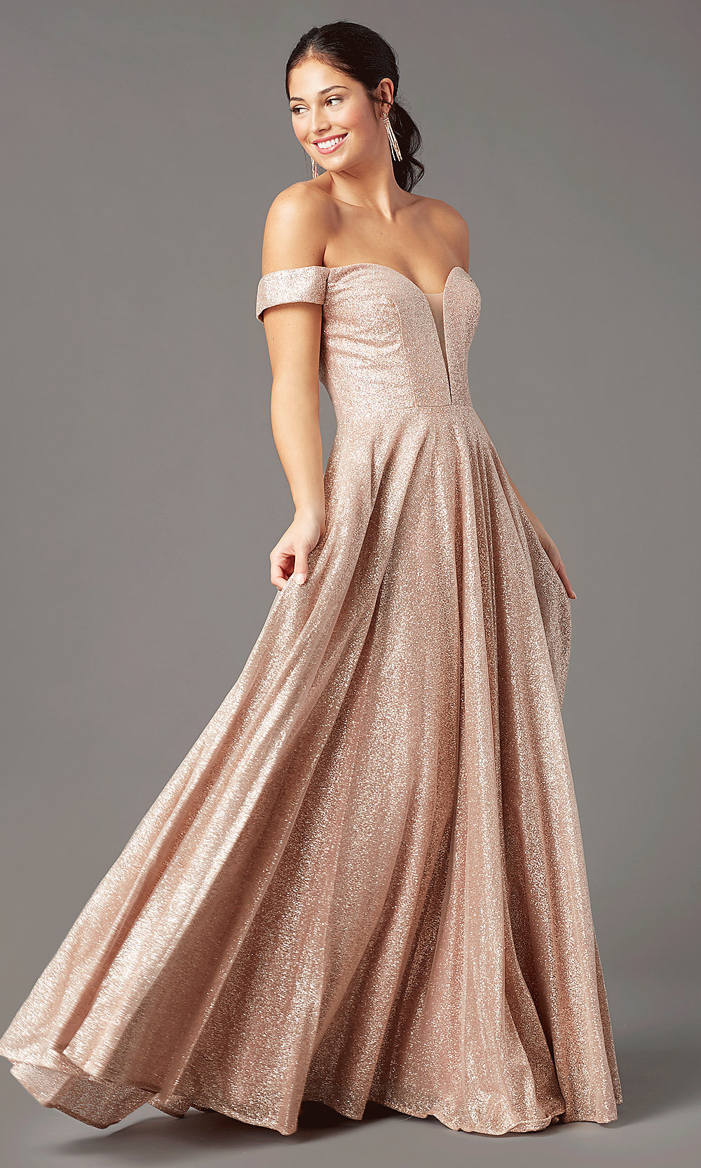 Long Sparkly Formal Prom Dress - PromGirl