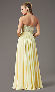Image of embellished sweetheart long prom dress by PromGirl. Style: PG-B2021 Back Image