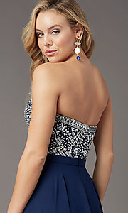 Image of embellished sweetheart long prom dress by PromGirl. Style: PG-B2021 Detail Image 7