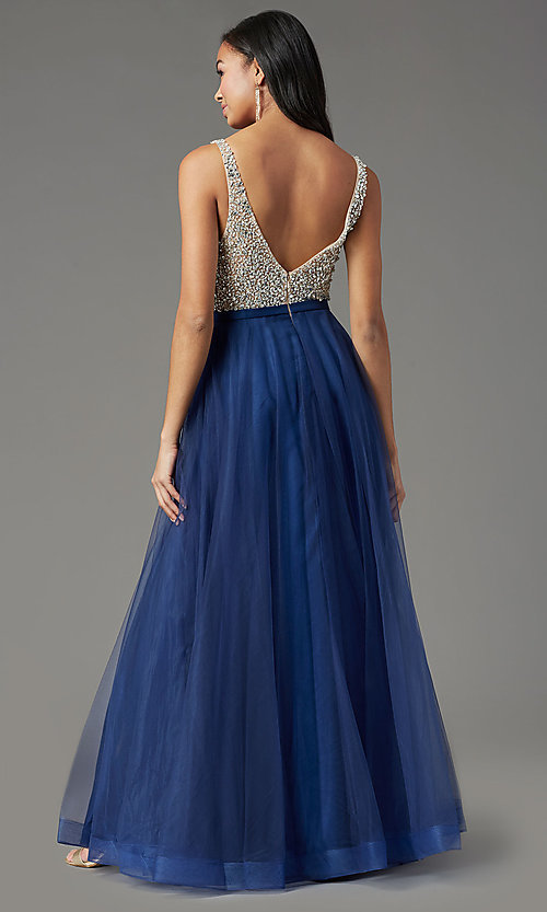 Image of PromGirl beaded-bodice long formal prom dress. Style: PG-B2022 Detail Image 4