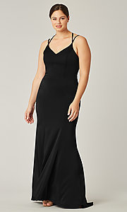 Image of long formal bridesmaid dress for prom. Style: KL-200191 Front Image