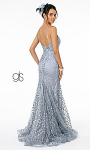 Image of long sequin and glitter mauve prom dress. Style: FB-GL2965 Detail Image 4