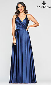 Image of classic Faviana prom dress with open corset back. Style: FA-S10429 Detail Image 3
