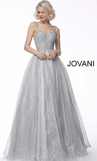 Long Glitter Ballgown-Style Prom Dress by Jovani
