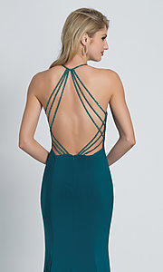 Image of Dave and Johnny long formal prom dress with beads. Style: DJ-A8879 Detail Image 1