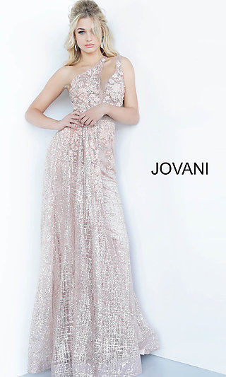 Long One-Shoulder Prom Dress by Jovani