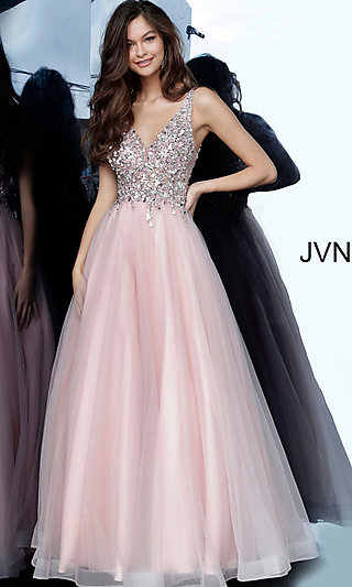 Ballgown-Style Prom Dress with an Open Back