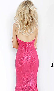 Image of Jovani long strapless sparkly formal prom dress. Style: JO-1121 Detail Image 2