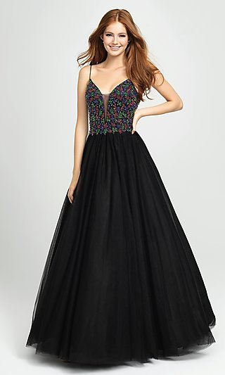 Beaded Tulle Ball Gown for Prom by Madison James