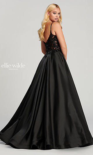 Long Ballgown-Style Prom Dress with a Sheer Back