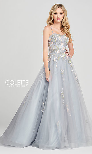 Embroidered Ballgown-Style Prom Dress by Colette