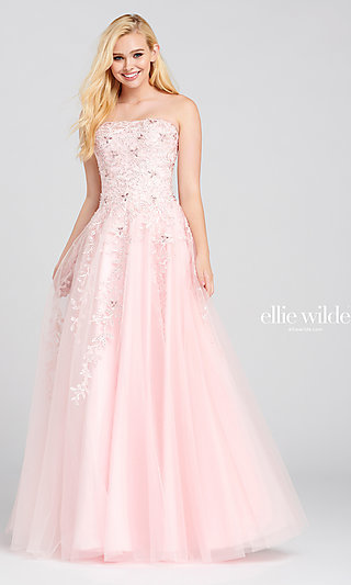 Embroidered Ballgown-Style Sleeveless Prom Dress
