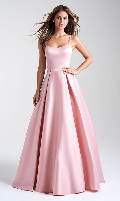 Image of ball-gown-style Madison James long prom dress. Style: NM-20-314 Front Image
