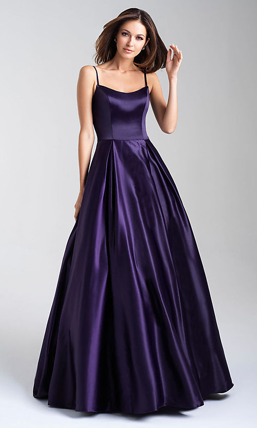 Image of ball-gown-style Madison James long prom dress. Style: NM-20-314 Detail Image 1