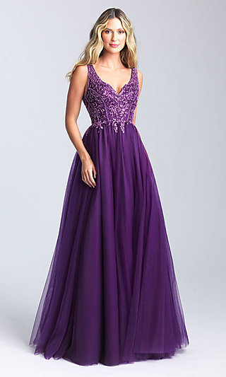 Long Ballgown-Style Prom Dress by Madison James