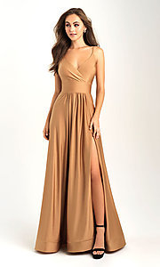 Image of a-line flowing long prom dress by Madison James. Style: NM-20-359 Detail Image 1