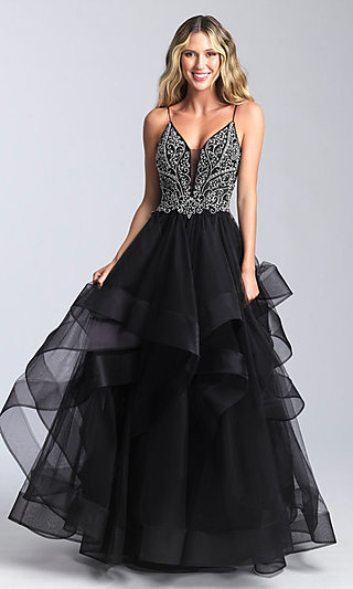 Long Open-Back Ballgown-Style Prom Dress