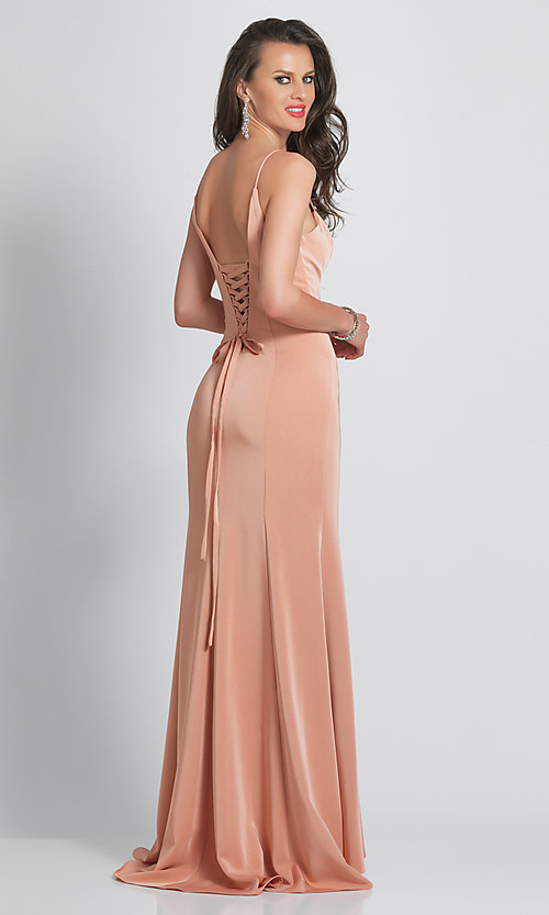 Image of classic sweetheart prom dress by Dave and Johnny. Style: DJ-A8668 Back Image