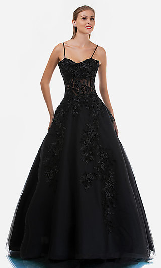 Nina Canacci Long Embroidered Prom Ball Gown