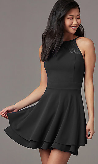 Black Casual Short Dress