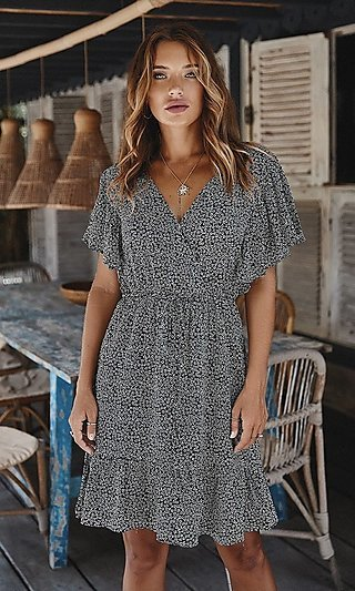 Polka Dot Summer Party Dress