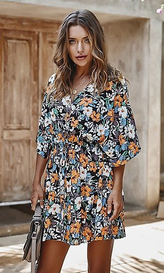 Summer Floral Casual Dress
