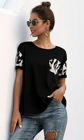 Black and Leopard T-Shirt