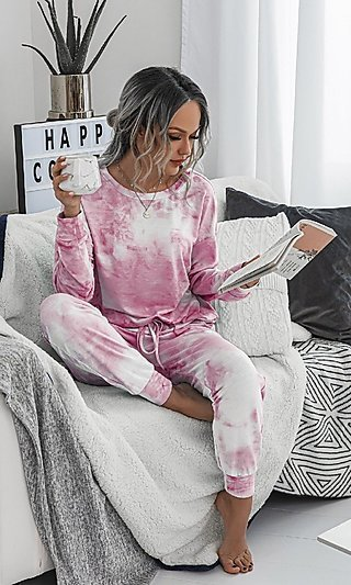 Tie Dye Matching Loungewear Set