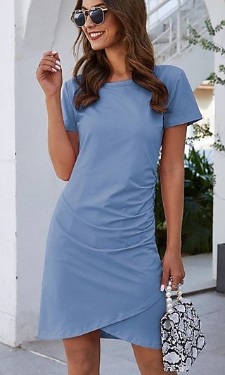 Short Sleeve Casual Wedding Guest Dress